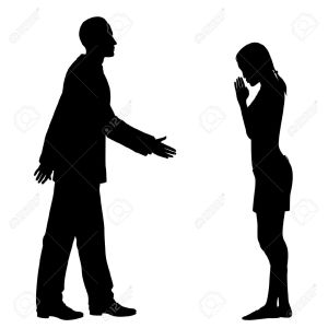 14327809-editable-silhouettes-of-the-culture-clash-as-a-western-man-and-an-east-asian-woman-greet-each-other